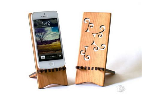 Iphone Stand Wood Diy Ideas