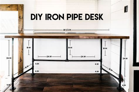 Iron Pipe And Wood Desk Diy Ideas