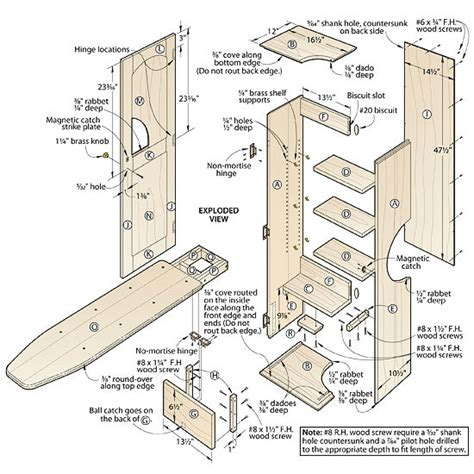 Ironing board cabinet plans free Image