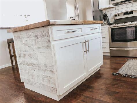 Island With Reclaimed Wood Diy Kitchen