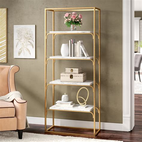 Jacksonville Etagere Bookcase By Everly Quinn
