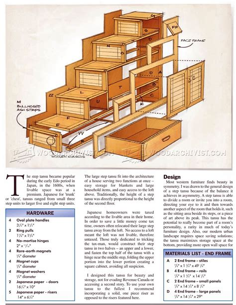 Japanese Tansu Chest Plans
