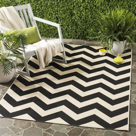 Jefferson Place Black / Beige Outdoor Rug