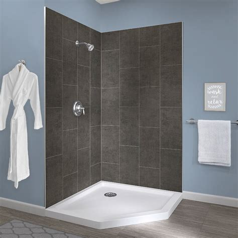 Jetcoat? 78 X 42 X 42 Two Panel Neo-Angle Shower Wall By Hazelwood Home