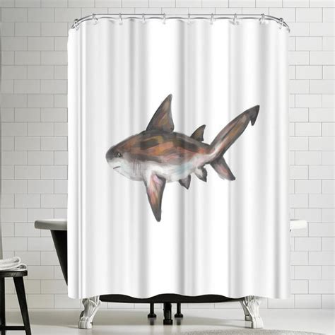 Jetty Printables Bull Shark Single Painting Shower Curtain By East Urban Home