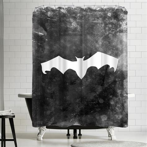Jetty Printables Halloween Striped Bat Shower Curtain By East Urban Home