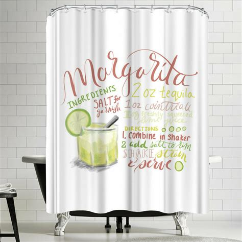Jetty Printables Margarita Typography Recipe Art Shower Curtain By East Urban Home