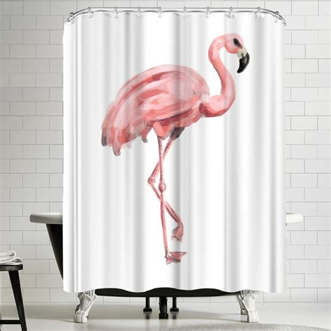 Jetty Printables Pink Painted Flamingo Shower Curtain By East Urban Home