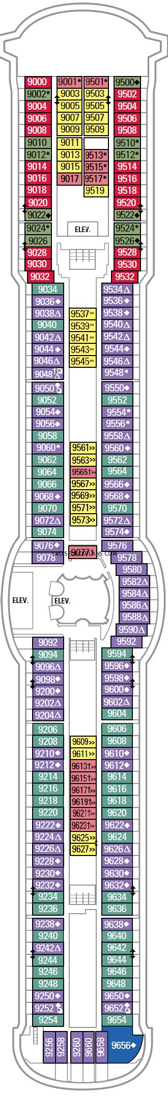 Jewel Of The Seas Deck Plan 9