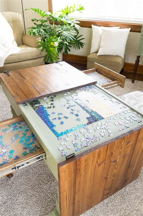 Jigsaw Puzzle Table Diy