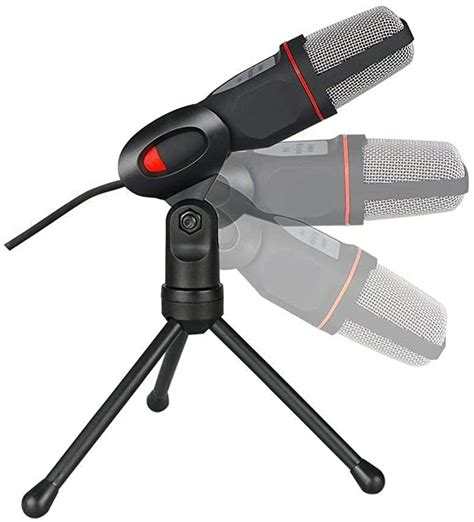 Jili Online Gaming Microphone with Stand for Studio Recording Skype Chatting Singing PC Computer