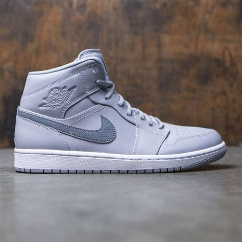 Jordan Men's Air 1 Mid, Wolf Grey/White-Black