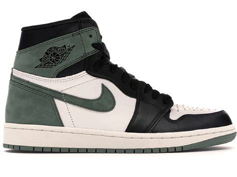 Jordan Men's Air 1 Retro High OG, Summit White/Clay Green-Black