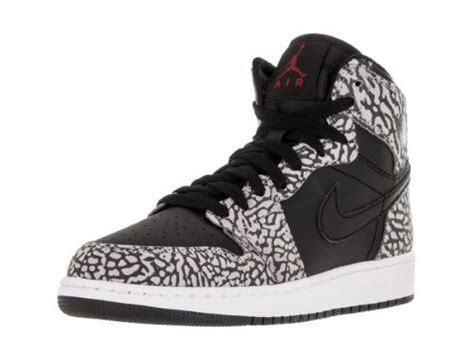 Jordan Nike Kids Air 1 Retro Hi Prem Bg Black/Gym Red/Cmnt Gry/Anthracite Basketball Shoe 4.5 Kids US