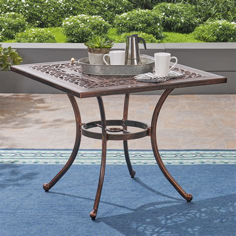 Joselyn Outdoor Square Dining Table
