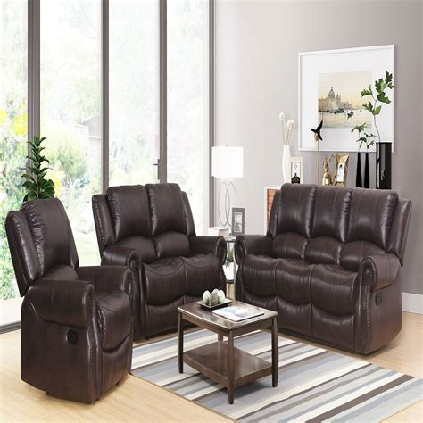Juan Reclining 3 Piece Leather Living Room Set