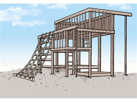 Jungle Gym Playhouse Plans