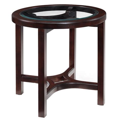 Juniper Mink Brown Wood Round End Table Plans