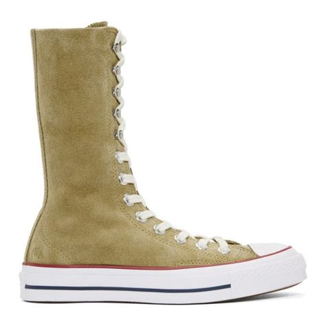 Jw Anderson Tan Converse Edition Suede Chuck Taylor High-top Sneakers