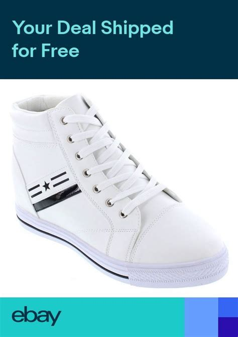 K107222-3 Inches Taller - Height Increasing Elevator Shoes - White Leather Fashion Sneakers