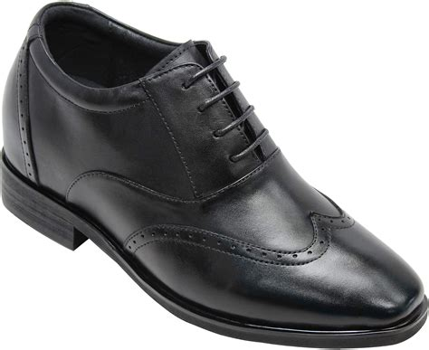 K333021 - 3 Inches Taller - Height Increasing Elevator Shoes (Black Leather Lace-up Dress Shoes)