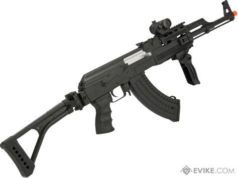 Kalashnikov Ak 47 Fps 350 Electric Airsoft Rifle And Ar 15 Flashlight Laser Combo