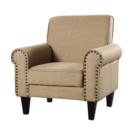 Kalyn Fabric Accent Chair With Nailhead Trim