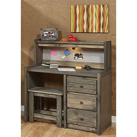 Kania 3 Drawer 40 W Writing Desk With Hutch