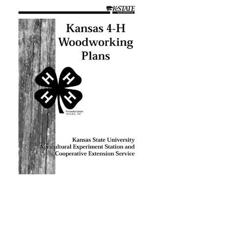 Kansas 4 H Woodworking Plans