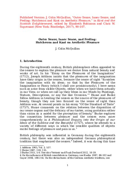 [pdf] Kant On Aesthetic Pleasure - Routledge.
