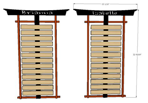 Karate Belt Rack Plans