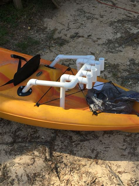 Kayak Cart Rod Holder Diy
