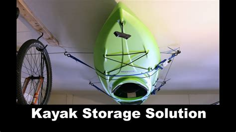 Kayak Pulley Storage Diy