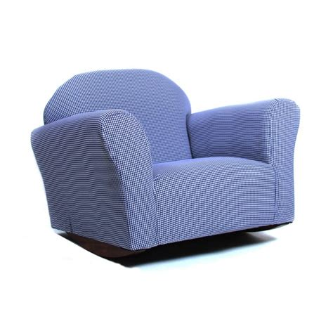 Keet Roundy Rocking Kid'S Chair Gingham Pink