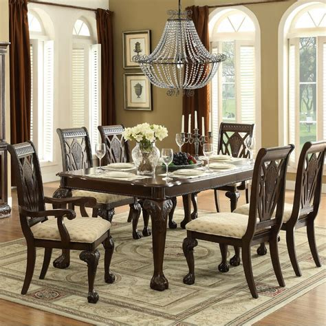 Kelemen 7 Piece Extendable Solid Wood Dining Set