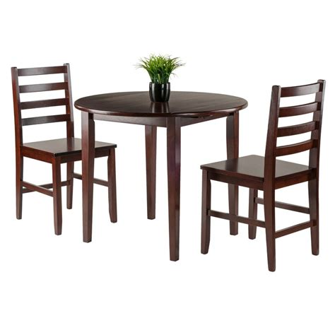 Kendall Traditional 3 Piece Drop Leaf Dining Set