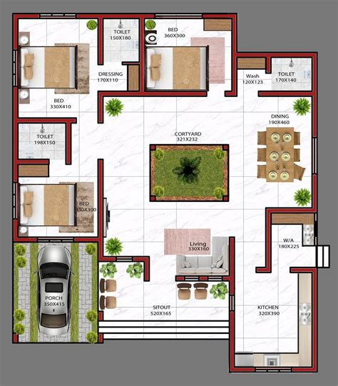 Kerala Building Plans Villa Free Plan