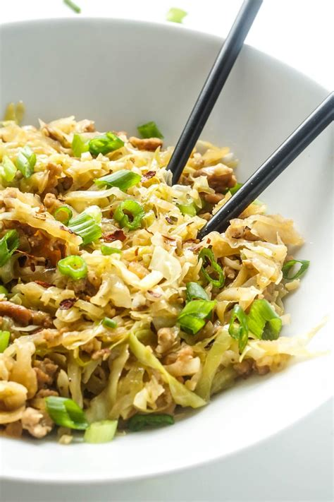 Keto Diet Egg Roll In A Bowl