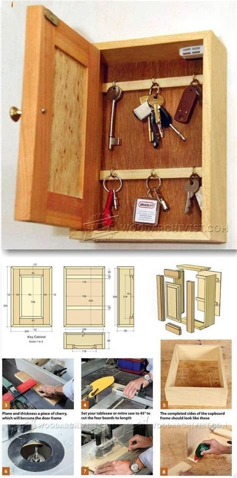 Key-Cabinet-Woodworking-Plans