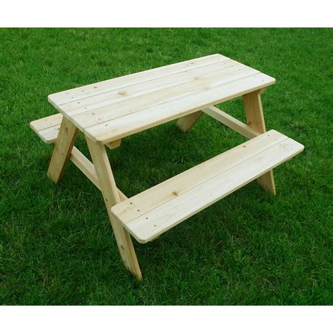 Kid Wood Picnic Table