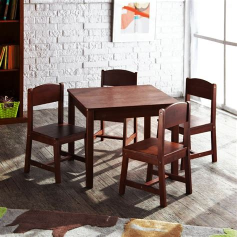 Kidkraft-Farmhouse-Table-4-Chair-Pecan