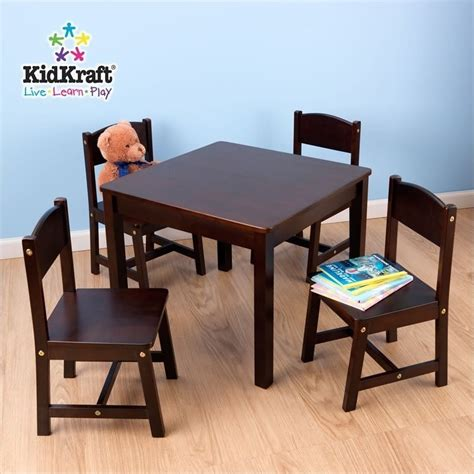Kidkraft-Farmhouse-Table-And-Chairs-Espresso