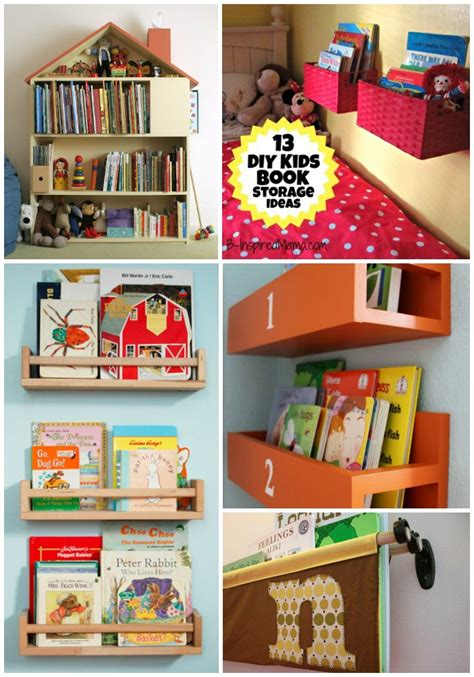 Kids Book Storage Diy