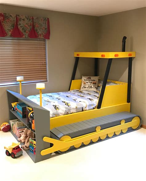 Kids Bulldozer Bed Plans