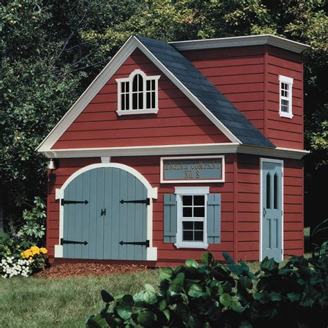 Kids Firehouse Playhouse Plans