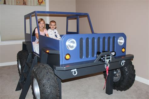 Kids Jeep Bed Plans