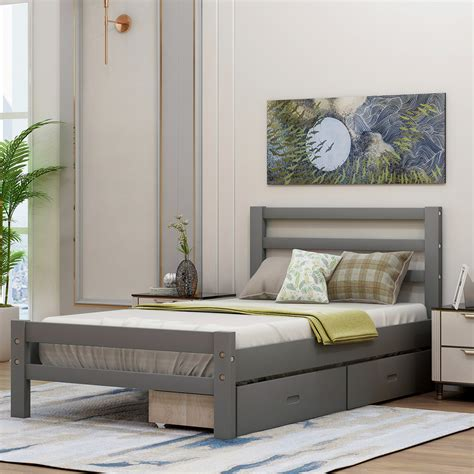 Kids Platform Bed With Drawers