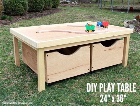 Kids Play Table With Storage Plans