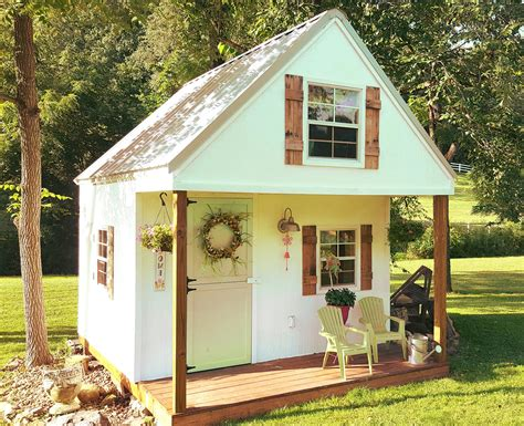 Kids Playhouse Plans With Loft And Porch