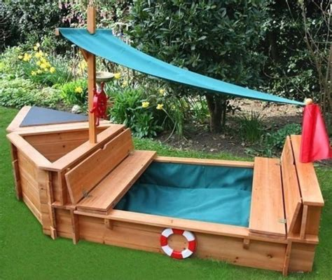 Kids Sandbox With Cover Plans